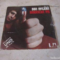 Discos de vinilo: DON MCLEAN - AMERICAN PIE - UNITED ARTISTS 1972. Lote 210621961