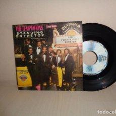 Discos de vinilo: THE TEMPTATIONS -STANDING ON THE TOP- MOTOWN- 1982- RCA-. Lote 210621987