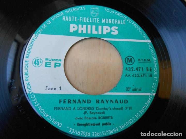 Discos de vinilo: FERNAND RAYNAUD, EP, FERNAND A LONDRES + 2, AÑO 19?? MADE IN FRANCE - Foto 3 - 210623986