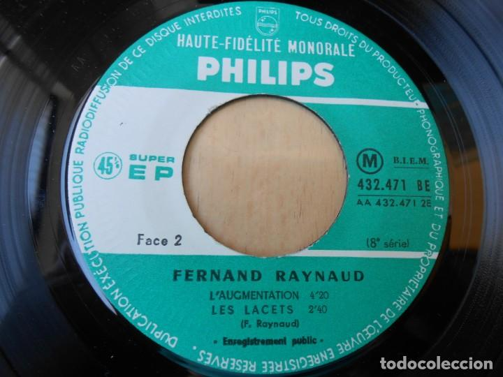Discos de vinilo: FERNAND RAYNAUD, EP, FERNAND A LONDRES + 2, AÑO 19?? MADE IN FRANCE - Foto 4 - 210623986