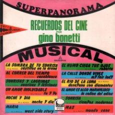 Discos de vinilo: RECUERDOS DEL CINE POR GINO BONETTI / LP MICROFON DE 1967 RF-8012. Lote 210627550