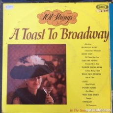 Discos de vinilo: 101 STRINGS A TOAST TO BROADWAY LP EDIC ESPAÑOLA. Lote 210628357