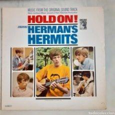 Discos de vinilo: HERMAN'S HERMITS. HOLD ON! BSO. MONO. 1966 USA. E/SE-4342 ST. DISCO VG++. CARÁTULA VG++.. Lote 210639945