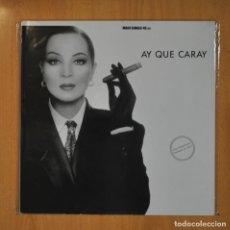 Discos de vinilo: SARA MONTIEL - AY QUE CARAY - MAXI. Lote 210640614