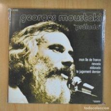 Discos de vinilo: GEORGES MOUSTAKI - PRELUDE - 2 LP. Lote 210640908
