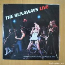 Discos de vinilo: THE RUNAWAYS - THE RUNAWAYS LIVE (AGORA BALLROOM CLEVELAND) - LP. Lote 210641019