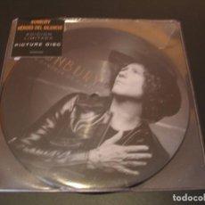 Discos de vinilo: BUNBURY PICTURE SINGLE 45 RPM EN BANDEJA DE PLATA HEROES DEL SILENCIO 2018 PRECINTADO. Lote 210653950