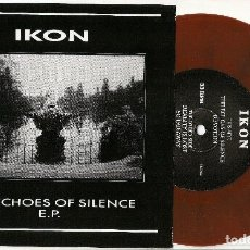 """Discos de vinilo: IKON THE ECHOES OF SILENCE E.P. VINYL 7"""" LIMITED EDITION BROWN. Lote 210657180"""