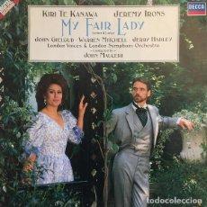 Discos de vinilo: LP MY FAIR LADY - KIRI TE KANAWA - JEREMY IRONS - JOHN MAUCERI - DECCA 421 200-1 (EX/EX)Ç. Lote 210661014