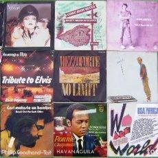 Discos de vinilo: LOTE 15 SINGLES: BOHANNON, VISAGE, WE ARE THE WORLD; MEZZOFORTE, HOWARD JONES, JOHN CAMPBELL..... Lote 210667342