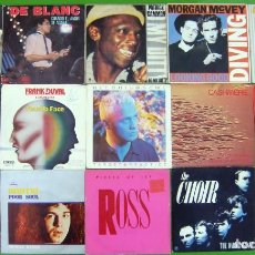 Discos de vinilo: LOTE 15 SINGLES: FRANK DUVAL, DE BLANC, AURRA, THE CHOIR, MORGAN MCVEY, CASHWERE, BELOUIS.... Lote 210668361