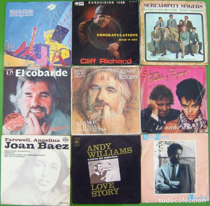 LOTE 9 SINGLES: THE ROLLING STONES, JOAN BAEZ, BILLY OCEAN, SERENDIPITY S.KENNY ROGERS,CLIFF RICHARD (Música - Discos - Singles Vinilo - Pop - Rock - Internacional de los 70)