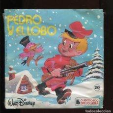 Discos de vinilo: PEDRO Y EL LOBO. CUENTODISCO. BRUGUERA 20. PRECINTADO. Lote 210670629