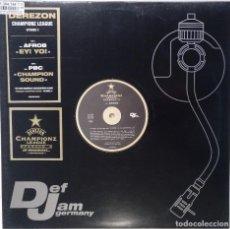 """Discos de vinilo: DJ DEREZON FT. AFROB - EY! [GERMANY HIP HOP / RAP] [EDICIÓN ORIGINAL EXCLUSIVA MX 12"""" 33RPM] [2001]. Lote 210681581"""