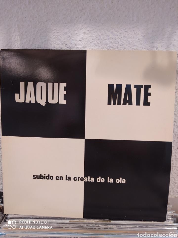 JAQUE MATE. SUBIDO EN LA CRESTA DE LA OLA. LP VINILO PERFECTO ESTADO - GRUPO DE SALAMANCA (Música - Discos - LP Vinilo - Grupos Españoles de los 70 y 80)
