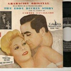"Discos de vinilo: CARMEN CAVALLARO PIANO 7"" SPAIN EP 45 THE EDDY DUCHIN STORY Nº 1 SINGLE VINILO 1950S KIM NOVAK BSO. Lote 210688956"