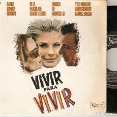 """Discos de vinilo: FRANCIS LAI 7"""" SPAIN EP 45 VIVIR PARA VIVIR VIVRE POUR VIVRE SINGLE VINILO ´67 BANDA SONORA JAZZ BSO. Lote 210690744"""