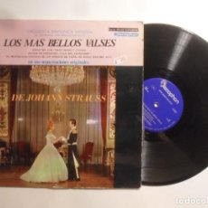 Dischi in vinile: LP - JOHANN STRAUSS, LOS MAS BELLOS VALSES - SINFONICA DE VIENA - DISCOPHON. Lote 210694974