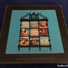 Discos de vinilo: ANTOLOGIA DEL CANTE FLAMENCO HISPAVOX 1958 3 LPS MAS LIBRO 110 PGN,ESTADO MUY BUENO. Lote 210695842