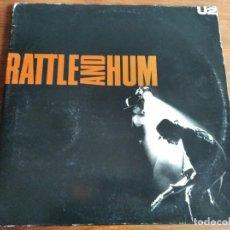 Discos de vinilo: U2 - RATTLE AND HUM *************** LP ESPAÑOL DOBLE 1988. Lote 210696556