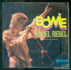 Discos de vinilo: NUMULITE * DAVID BOWIE REBEL REBEL RCA VICTOR. Lote 210707966