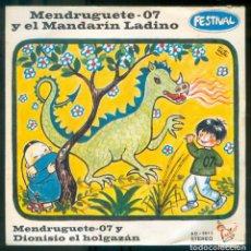 Discos de vinilo: NUMULITE * MENDRUGUETE 07 Y EL MANDARÍN LADINO FESTIVAL DIONISIO EL HOLGAZÁN. Lote 210707987