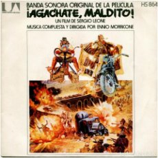 Discos de vinil: ENNIO MORRICONE - ¡AGÁCHATE, MALDITO! - SG SPAIN 1972 - UNITED ARTISTS RECORDS HS 864. Lote 210711655