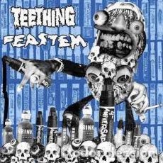 Discos de vinilo: TEETHING, FEASTEM - SPLIT. Lote 210720281