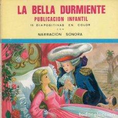 Discos de vinilo: LA BELLA DURMIENTE, FLEXI-DISC CON GRAVACION SONORA Nº 14 + 15 DIAPOSITIVAS EN COLOR - SINGLE 1968. Lote 210720651