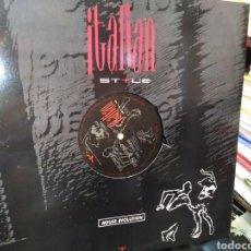 Discos de vinilo: ITALIAN STYLE-HOUSE EVOLUTION-AÑO 1990,. Lote 210726239