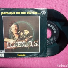 Discos de vinilo: SINGLE LORENZO SANTAMARIA - PARA QUE NO ME OLVIDES - 8E 006 21229 G - PORTUGAL PRESS (VG++/NM). Lote 210731357