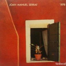 Discos de vinilo: JOAN MANUEL SERRAT-1978-PORTADA ABIERTA. Lote 210732205