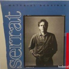 Discos de vinilo: JOAN MANUEL SERRAT-MATERIAL SENSIBLE-CONTIENE ENCARTE. Lote 210732705