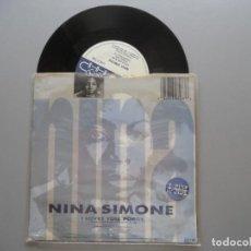 Discos de vinilo: NINA SIMONE ?– LITTLE GIRL BLUE/I LOVES YOU PORGY SINGLE UK 1987. Lote 210744085