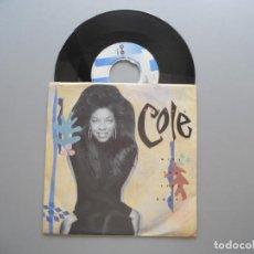 Discos de vinilo: NATALIE COLE – MISS YOU LIKE CRAZY SINGLE 1984 NM/EX ITALIA ED.. Lote 210745896