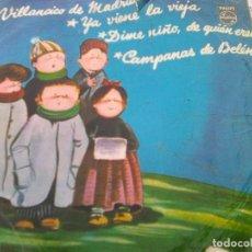 Discos de vinilo: COROS ESCUELAS AVEMARIANAS - VILLANCICO DE MADRID + 3 (PHILIPS, 1958). Lote 210746717