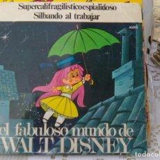 Discos de vinilo: CASAS AUGE - FABULOSO MUNDO DISNEY. SUPERCALIFRAGILISTICOESPIALIDOSO + 1 (YUPY, 1971)-RARO. Lote 210749289