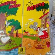 Discos de vinilo: CASAS AUGE - LOS CHIVITOS Y EL LOBO + LA RATITA (ODEON, 1961). Lote 210749500