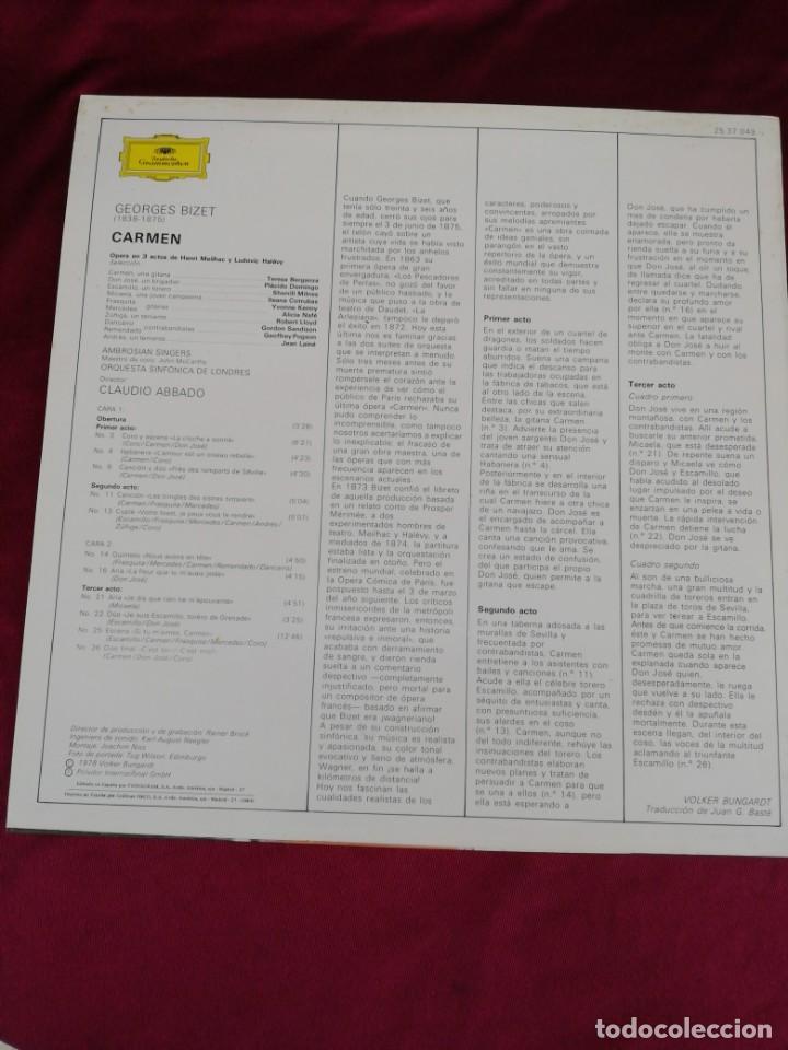 Discos de vinilo: Bizet: Carmen - Foto 2 - 210749766