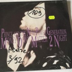 Discos de vinilo: PRINCE AND THE NEW POWER GENERATION - MONEY DON'T MATTER 2 NIGHT - 1992. Lote 210752997