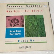 Discos de vinilo: EBERHARD SCHOENER - WHY DON'T YOU ANSWER - 1985. Lote 210753256