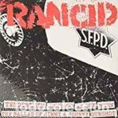 """Discos de vinilo: RANCID TENDERLOIN/LET'S GO/AS ONE/BURN/JIMMY & JOHNNY/GUNSHOT VINYL 7"""". Lote 210754136"""