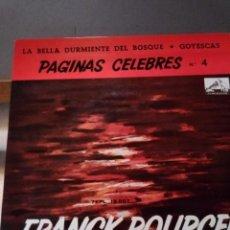 Discos de vinilo: FRANK POURCELL PAGINAS CELEBRES.LA BELLA DURMIENTE Y GOYESCAS. Lote 210756940