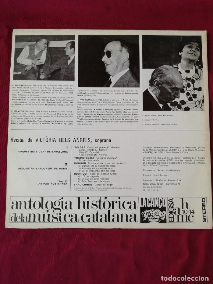 Discos de vinilo: Antoligia Historica dr la musuca catalana. Recital de Victoria dels Angels - Foto 2 - 210760222