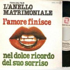 """Discos de vinilo: ROBERTO SOFFICI 7"""" SPAIN 45 L´ANELLO MATRIMONIALE L´AMORE FINISCE SINGLE VINILO 1979 BANDA SONORA. Lote 210762345"""