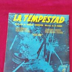 Discos de vinilo: LA TEMPESTAD. Lote 210762477