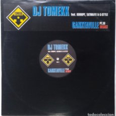 "Discos de vinilo: DJ TOMEKK - GANXTAVILLE PT. III [[ GERMANY HIP HOP / RAP ORIGINAL EXCLUSIVO]] [MX 12"" 33RPM] [2003]]. Lote 210767139"
