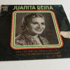 Discos de vinilo: BAL-3 DISCO VINILO GRANDE 12 PULGADAS JUANITO REINA UNA CANTAORA. Lote 210768210