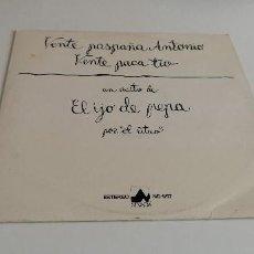 Discos de vinilo: BAL-3 DISCO VINILO GRANDE 12 PULGADAS UN EXITO DE EL IJO DE PEPA POR `EL LITRO´. Lote 210768994