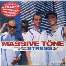 """Discos de vinilo: MASSIVE TÖNE - STRESS FT. FETSUM [GERMANY HIP HOP / RAP EXCLUSIVO ORIGINAL] [MX 12"""" 33RPM] [2003]. Lote 210770272"""